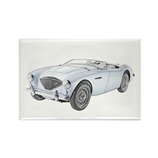 1953 Austin-Healey 100 Rectangle Magnet