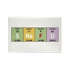 Chemistry SNAFU Rectangle Magnet