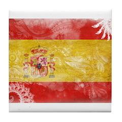 Spain Flag Tile Coaster