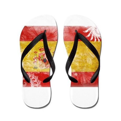 Spain Flag Flip Flops