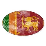 Sri Lanka Flag Sticker (Oval)
