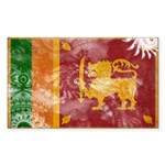Sri Lanka Flag Sticker (Rectangle)