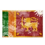 Sri Lanka Flag Postcards (Package of 8)