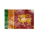 Sri Lanka Flag Rectangle Magnet (100 pack)