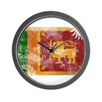 Sri Lanka Flag Wall Clock