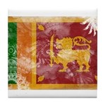 Sri Lanka Flag Tile Coaster