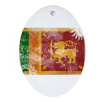 Sri Lanka Flag Ornament (Oval)