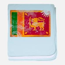 Sri Lanka Flag baby blanket