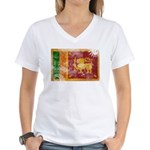 Sri Lanka Flag Women's V-Neck T-Shirt