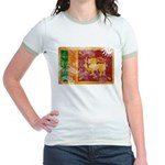 Sri Lanka Flag Jr. Ringer T-Shirt