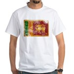 Sri Lanka Flag White T-Shirt