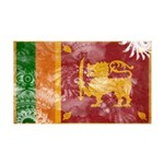 Sri Lanka Flag 38.5 x 24.5 Wall Peel