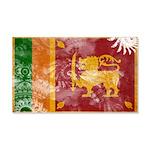 Sri Lanka Flag 22x14 Wall Peel