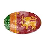 Sri Lanka Flag 38.5 x 24.5 Oval Wall Peel