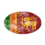 Sri Lanka Flag 38.5 x 24.5 Oval Wall Peel