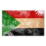 Sudan Flag Sticker (Rectangle 10 pk)