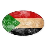 Sudan Flag Sticker (Oval 50 pk)