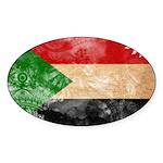 Sudan Flag Sticker (Oval 10 pk)