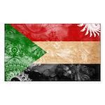 Sudan Flag Sticker (Rectangle)