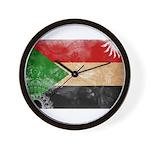 Sudan Flag Wall Clock
