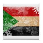 Sudan Flag Tile Coaster