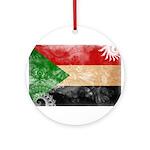 Sudan Flag Ornament (Round)