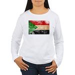 Sudan Flag Women's Long Sleeve T-Shirt