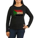 Sudan Flag Women's Long Sleeve Dark T-Shirt