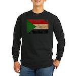 Sudan Flag Long Sleeve Dark T-Shirt