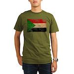 Sudan Flag Organic Men's T-Shirt (dark)