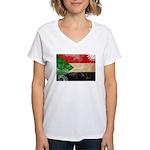 Sudan Flag Women's V-Neck T-Shirt