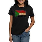 Sudan Flag Women's Dark T-Shirt