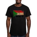 Sudan Flag Men's Fitted T-Shirt (dark)
