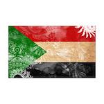 Sudan Flag 38.5 x 24.5 Wall Peel