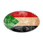 Sudan Flag 38.5 x 24.5 Oval Wall Peel