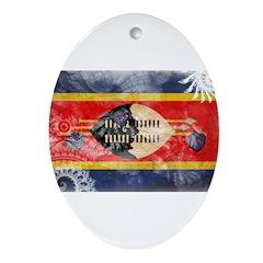 Swaziland Flag Ornament (Oval)