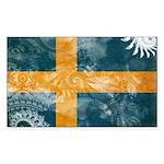 Sweden Flag Sticker (Rectangle 10 pk)