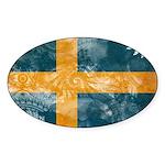Sweden Flag Sticker (Oval)