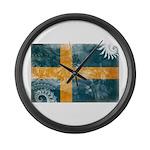 Sweden Flag Large Wall Clock