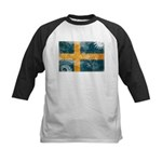 Sweden Flag Kids Baseball Jersey