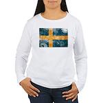 Sweden Flag Women's Long Sleeve T-Shirt