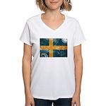 Sweden Flag Women's V-Neck T-Shirt