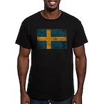 Sweden Flag Men's Fitted T-Shirt (dark)