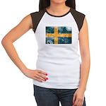 Sweden Flag Women's Cap Sleeve T-Shirt