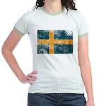 Sweden Flag Jr. Ringer T-Shirt