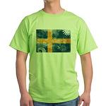 Sweden Flag Green T-Shirt
