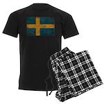 Sweden Flag Men's Dark Pajamas