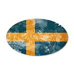 Sweden Flag 38.5 x 24.5 Oval Wall Peel