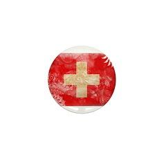 Switzerland Flag Mini Button (10 pack)
