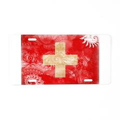 Switzerland Flag Aluminum License Plate